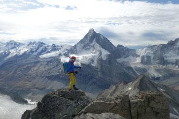 Schönbielhütte, Pointe de Zinal, Überschreitung, Hohwänggletscher, Matterhorn, Monterosa, Bergsteigen, Wandern, Wallis, Zermatt