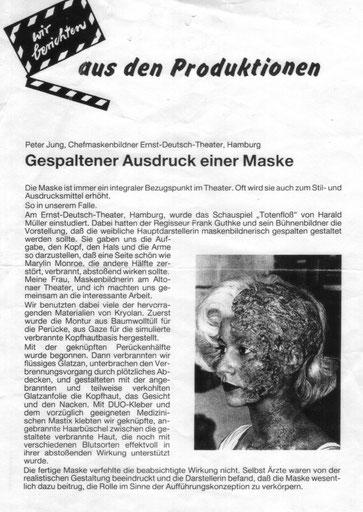 """1988 """"Das Totenfloß"""" Ernst-Deutsch-Theater Silke Jensen"""