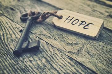 der Schlüssel zu Hoffnung