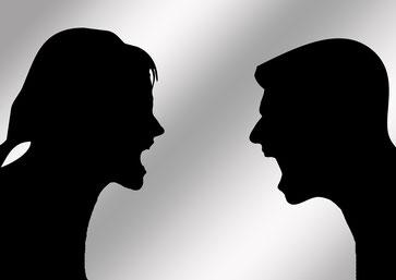 Hass zweier Menschen
