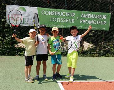Antoine, Fahel, Armand et Valentin Équipe niveau ORANGE Mai 2018