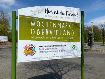 """Hier ist die Frische! Wochenmarkt Obervieland in Kattenturm-Mitte (""""Kattentorner Markt"""")"""