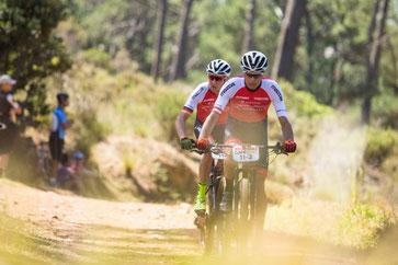 Duo Daniel Geismayr/ Nicola Rohrbach vom Ravensburger Team CENTURION VAUDE