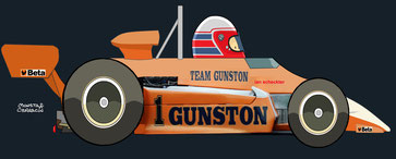 Ian Scheckter by Muneta & Cerracín - F2 - Atlantic-Sigma Series - Team Gunston March 832