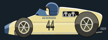 Ian John Burgess by Muneta & Cerracín -  Lotus 18 - Climax L4