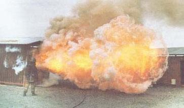 Backdraft: deflagración de gases