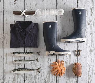 Rouchette, bottes maritimes pour les professionnels de la pêche et les particuliers
