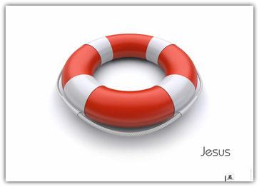 Plakat Jesus Rettungsring