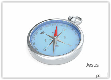 Plakat Jesus Kompass