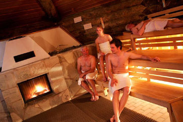 Kamin Sauna in der Driburg Therme © Driburg Therme
