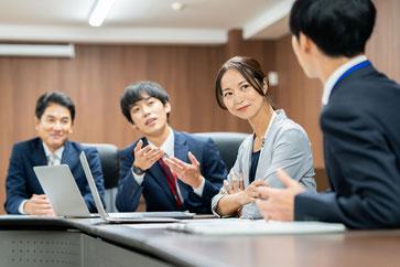 財務諸表監査チームのミーティング