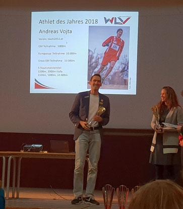 Andreas Vojta wird neuerlich WLV-Athlet des Jahres