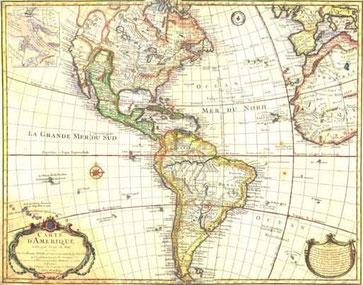 Die Karte von der Neuen Welt