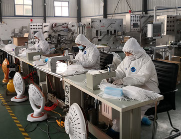 中国のマスク生産工場 中国に集中