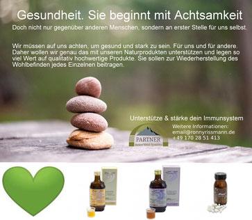 Für Ihre Gesundheit. Immunsystem unterstützen und stärken. Mit Reico Rega Saft, Levi Saft und Almin.