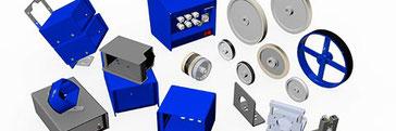 Aufbaugehäuse, Winkelflasche und Meßräder von Willtec