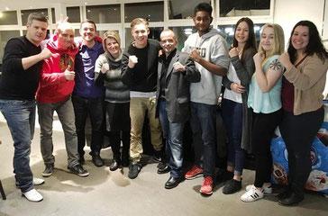 Teilnehmer des Sponsoren-Sparring @ M's-Gym Bern fürs BOXING TEAM ITTIGEN SA 13.02.2016 (Pedro und Andrea fehlen leider auf Bild)