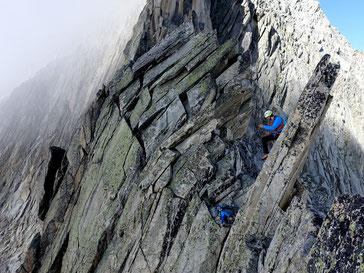 Alpines Klettern Gross Diamantstock Bächlital Grimsel