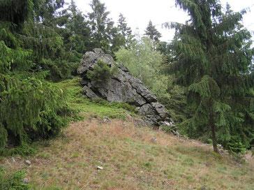 Felsen in der Wittgensteiner Landschaft.