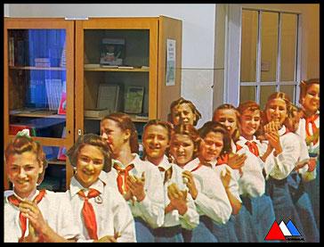 School museum Leipzig  (1970 - 1980)  compilatie foto auteur.