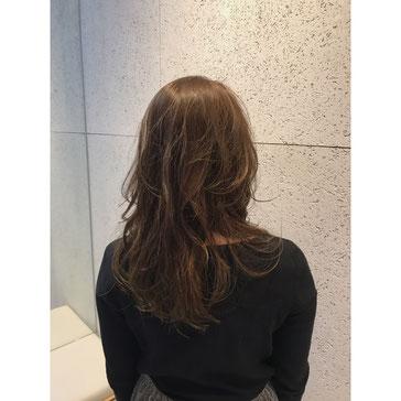 横浜 石川町 美容室 Grantus ロング レイヤースタイル ハイライト 撮影 レディスタイル