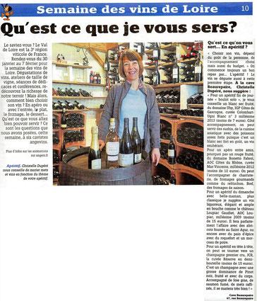 Cave Beaurepaire Angers, Christelle Dupéré vous conseille de marier mets et vins en fonction du thème de votre apéritif