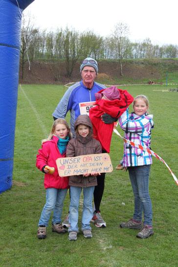Karl-Heinz Römer der älteste Teilnehmer im Feld mit 80 Jahren