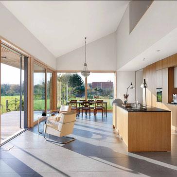 maßgeschneiderte küchen, Tischlerei, Fenster, Giebelverglasung, Terrasse