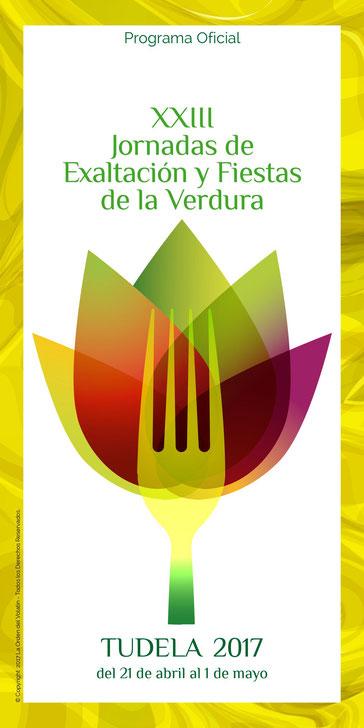 Cartel y programa de las Fiestas de la Verdura en Tudela