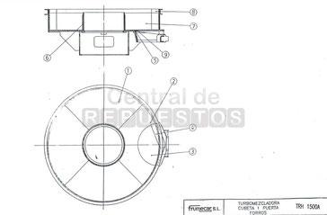Despiece Mezcladora Frumecar serie TRH1500