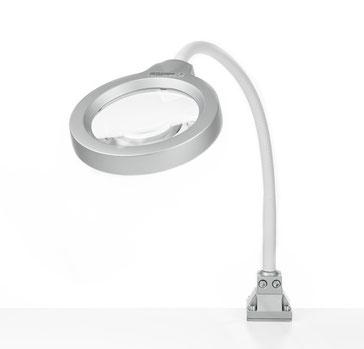 Seitliche Perspektive auf LED Flex Lupenleuchte