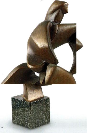 TIZIANA. 1977. BRONZE 28 X 14 X 18 cm. COLLECTION DE L'ARTISTE.