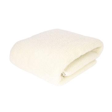 Plaid en laine naturelle de mouton douce ne gratte pas lavable machine couverture