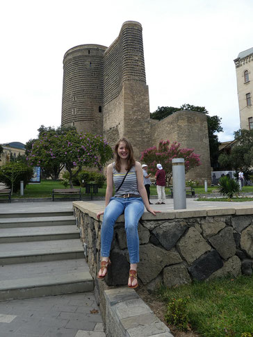 Melanie Lubbe unterwegs in Baku, Schacholympiade 2016