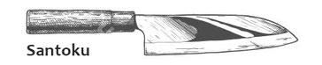 Santoku japanische Küchenmesser