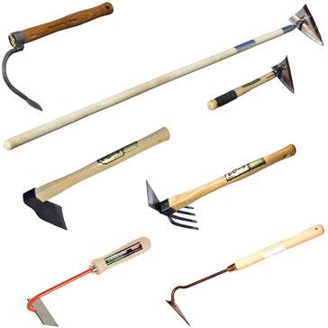 Handhacken und Werkzeuge zur Unkrautentfernung