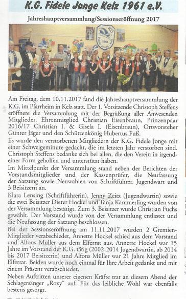 Amtsblatt Gemeinde Vettweiß 8. Dezember 2017