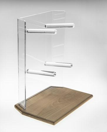 Support à bretzels Karl avec socle en bois 9910019, FMU GmbH, Support à bretzels