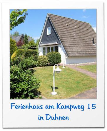 Ferienhaus im Kampweg in Duhnen. Ideal für den Familienurlaub in Cuxhaven. Hunde sind auch herzlich willkommen