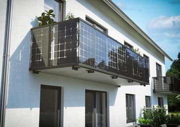 Balkon mit Solar
