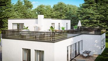 Solar Balkon Geländer - Premium Solarglas Terrassenüberdachung