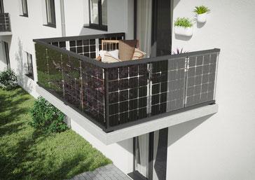 Balkongeländer Solar