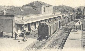 autrefois la gare d'annonay remplacé par une gare de bus