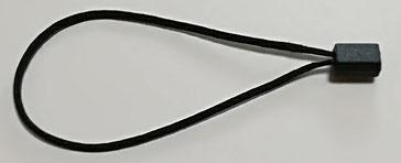 Marchamos Textiles 184mm color Negro -007A37BK