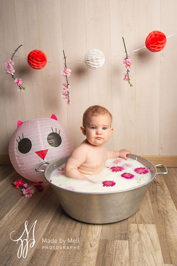 photographe bébé milk bath toulouse
