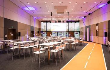 welcome-net Stuttgart, Konferenz Wien, Straße aus Teppich, Workshop-Inseln