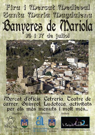 Programa del Mercado Medieval en Banyeres de Mariola
