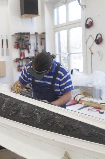 Otfried Kallfaß in seinem Atelier