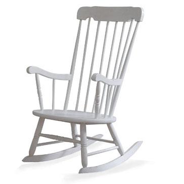 Weiße Vintage-Möbel, Schaukelstuhl