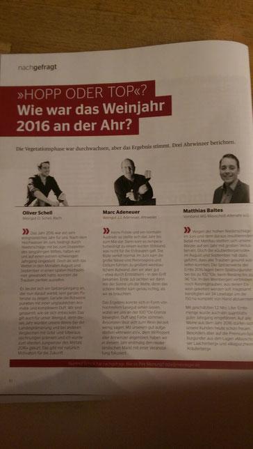 Meininger Magazin Fachmagazin Weinbau Oliver Schell